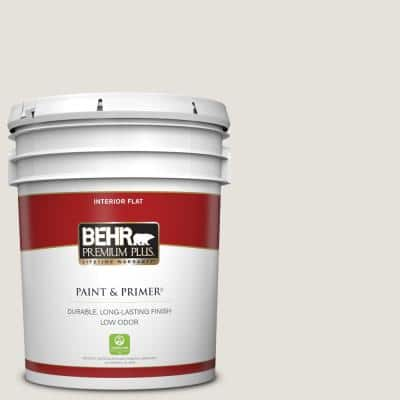 5 gal. #PPU18-08 Painters White Flat Low Odor Interior Paint & Primer