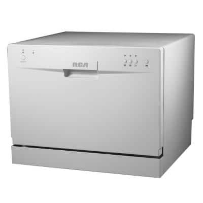 24 in. White Electronic CounterTop Control 600120-volt Dishwasher with 6-Cycles, 6 Place Settings Capacity