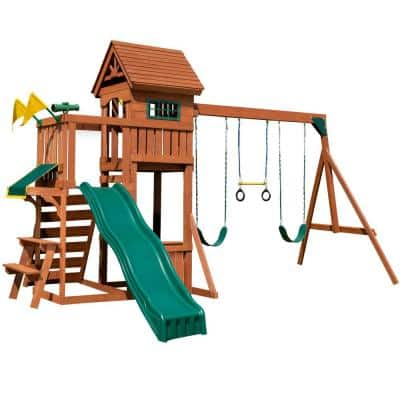 Playful Palace Wood Complete Swing Set