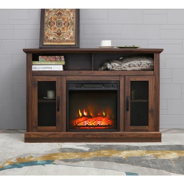 Lokatse Home 47 In Freestanding, Fake Fireplace Heater Tv Stand