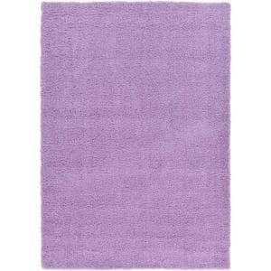 Solid Shag Lilac 7 ft. x 10 ft. Area Rug