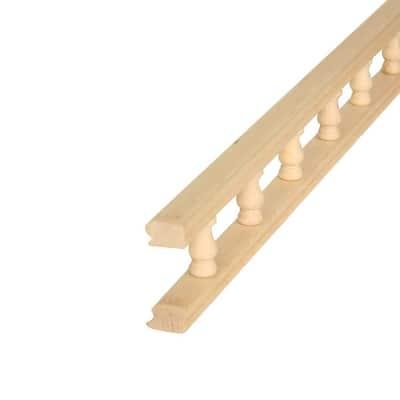 5504 3/4 in. x 2-1/4 in. x 48 in. Maple Rail Moulding