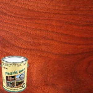 1 qt. 100 VOC Oil-Based Pacific Redwood Penetrating Exterior Stain and Sealer