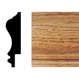 3/4 in. x 2-3/4 in. x 8 ft. Red Oak Wainscot Chair Rail