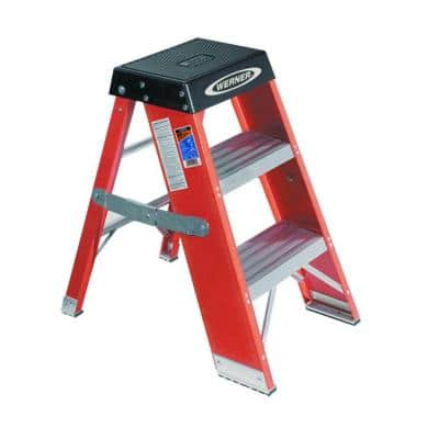 3 ft. Fiberglass Step Stand Ladder with 375 lb. Load Capacity Type IAA Duty Rating