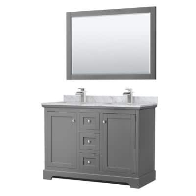 48 Inch Vanities Double Sink Bathroom Vanities With Tops Bathroom Vanities The Home Depot