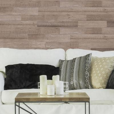 5 in. W x 48 in. L Reclaimed Peel and Stick Solid Wood Wall Paneling (Set of 2Box)