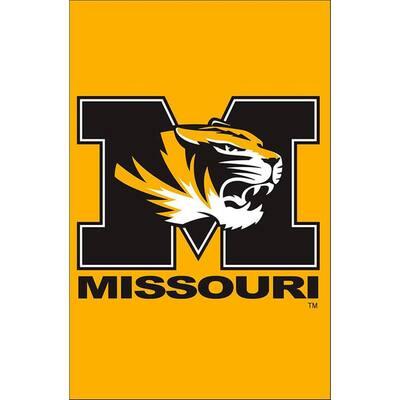 NCAA 12-1/2 in. x 18 in. Missouri 2-Sided Garden Flag