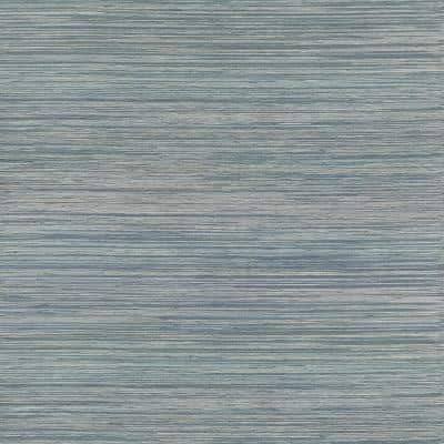 Pattaya Blue Grasscloth Wallpaper Grass Cloth Strippable Wallpaper (Covers 72 sq. ft.)
