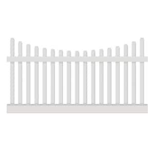 Hampshire 4 ft. H x 8 ft. W White Vinyl Picket Fence Panel Kit