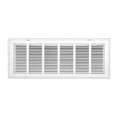 30 in. Wide x 14 in. High Return Air Filter Grille of Steel in White