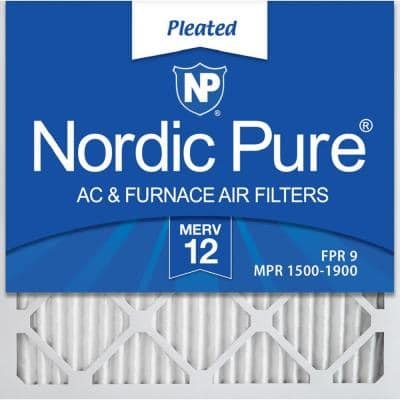 20  x 20  x 1  Allergen Pleated MERV 12 - FPR 9 Air Filters (6-Pack)