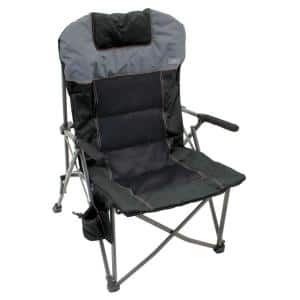 Deluxe Hard-Arm Gray/Charcoal Quad Chair with Pillow and Extra Cushioning