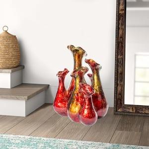Shelly Copper, Red, Gold Ceramic Decorative Vase