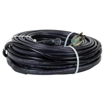 50 ft. Heating Cables for Pipes and Roof De-Icing, Self-Regulating with Built-in Thermostat, 120-Volt, 600-Watt