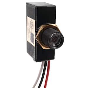 500-Watt 120-Volt Dusk to Dawn Light Control Mini Button Photocontrol, Black
