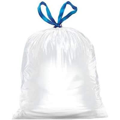 34 in. x 48 in. 13 Gal. 0.9 mil White Strong Tall Kitchen Drawstring Trash Bags (90-Box, 3-Boxes/Carton)
