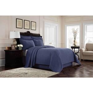 Williamsburg Richmond Blue Queen Coverlet Set