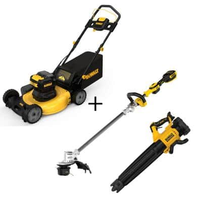 21.5 in. 20-Volt Max Li-Ion Cordless Battery Walk Behind Push Mower w/20V String Trimmer & 20-Volt Blower(Tools Only)