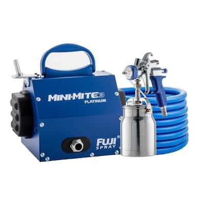 Mini-Mite 3 PLATINUM-T70 HVLP Paint Sprayer Gun, Bottom Feed 1 qt. Cup & 1.3 mm air Cap Set HVLP Paint Sprayer System