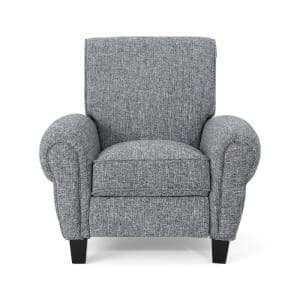 Del Monte Traditional Pebble Gray Fabric Push Back Recliner