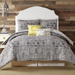 Tranquility 5-Piece Gray King Comforter Set