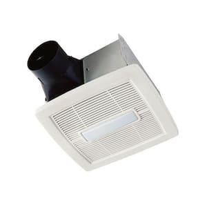 Flex Series 110 CFM Ceiling Roomside Installation Bathroom Exhaust Fan with Light, ENERGY STAR*