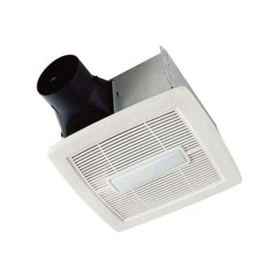 Flex Series 110 CFM Ceiling Roomside Installation Bathroom Exhaust Fan with Light, ENERGY STAR*