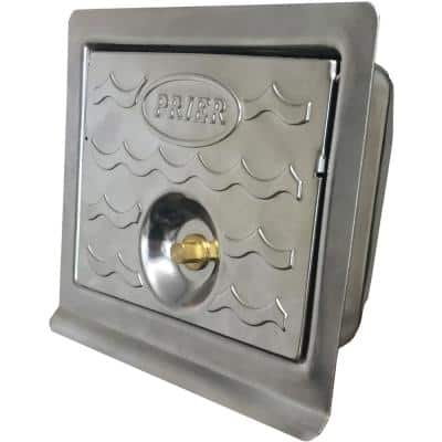 Lockable Commercial Hydrant Wall Box for C-534 in Stainless Steel