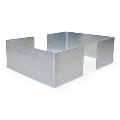 Galvanized Steel Fence Post Guard 7.5 in. L x 7.5 in. W x 3 in. H for Wood