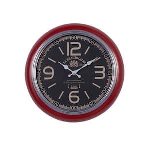 Red Metal Vintage Wall Clock