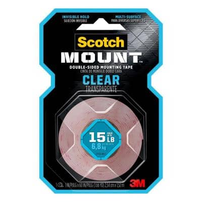 Scotch 1 in. x 1.60 yds. Permanent Double Sided Clear Mounting Tape