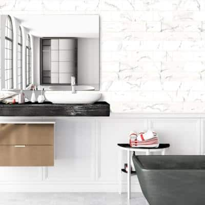 Carrara Crafted 3 in. x 6 in. Matte Wall Ceramic Tile (15 sq. ft./Case)