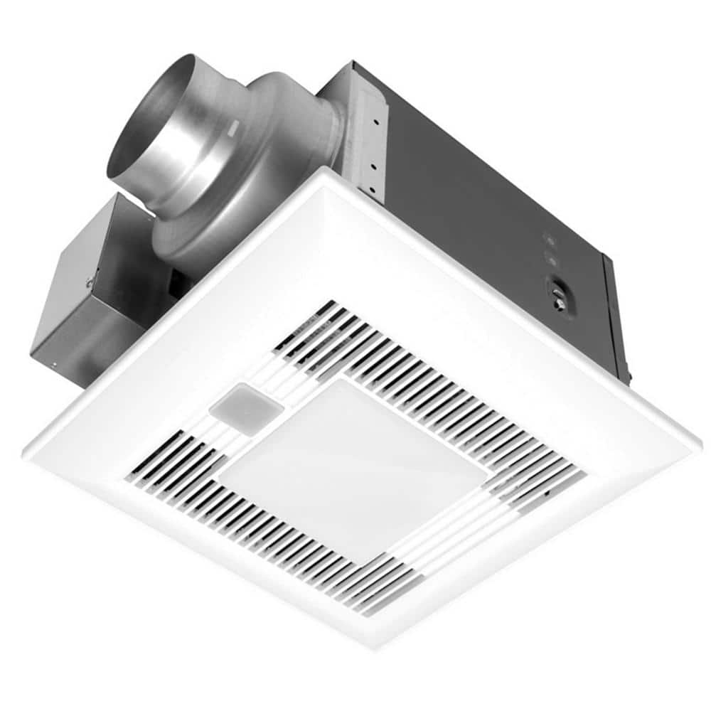 Panasonic Deluxe 110 Cfm Ceiling Bathroom Exhaust Fan With Light Motion Sensor And Humidity Control Sensor Energy Star Fv 11vqcl6 The Home Depot