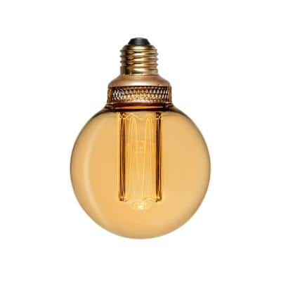 20-Watt Equivalence G80 Globe UL Dimmable Laser Cut Classic Pattern E26 LED Light Bulb in Amber, 2000K (1-Bulb)