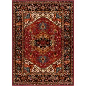 Naime Dark Red 8 ft. x 11 ft. Indoor Area Rug