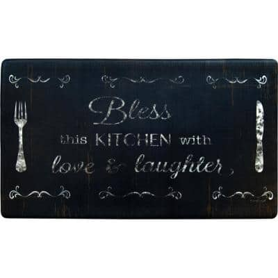 Cook N Comfort Bless This Kitchen Multi 19.6 in. x 35.4 in. Kitchen Mat