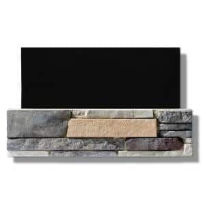 6 in. x 24 in. Stone Veneer Ledgestone Flat Panel Marin Fog (Box of 8)