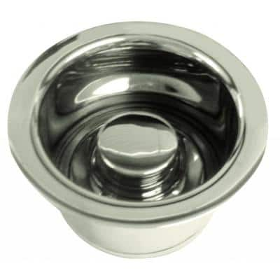3-1/2 in. Dia Dia Extra-Deep Disposal Flange and Stopper in Polished Nickel