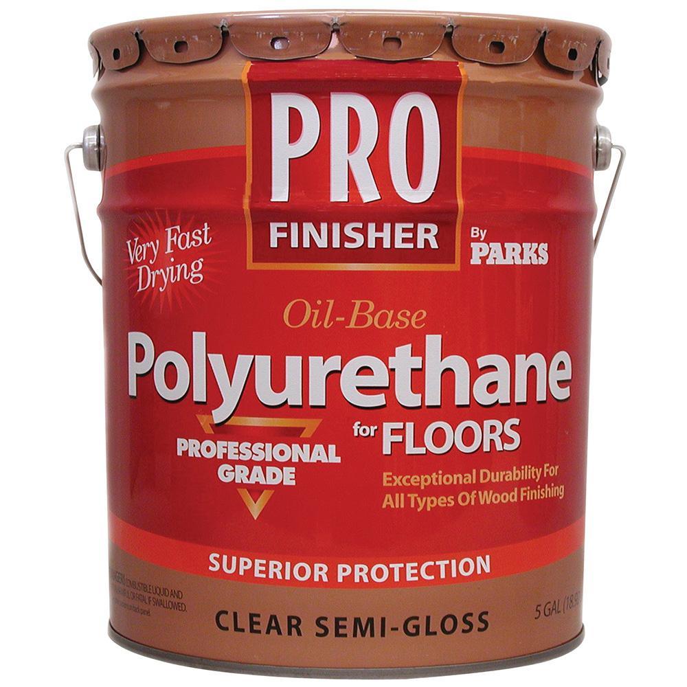 Pro Finisher 5 gal. Clear Semi-Gloss Oil-Based Polyurethane for Floors