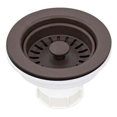 3.5 in. Plastic Strainer in Espresso