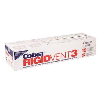 Cobra Rigid Vent 3 - 11.5 in. x 48 in. Roof Ridge Exhaust Vent in Black