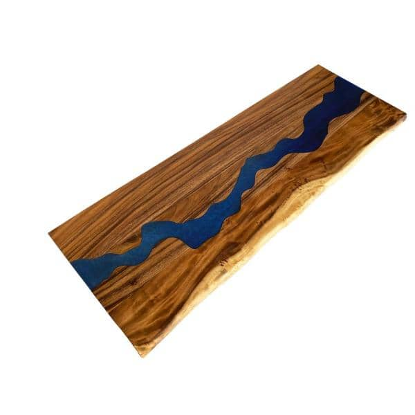 Hardwood Reflections Saman 6 Ft L X 25 In D X 1 5 In T Butcher Block Countertop With Blue Epoxy River Run 1525rivblsam 72 The Home Depot Liquid epoxy dye stone coat countertops vibrant epoxy dyes are specifically designed to work with phenolic resin and hardener. usd