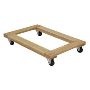 24 in. x 36 in. 900 lb. Open Deck Hardwood Dolly