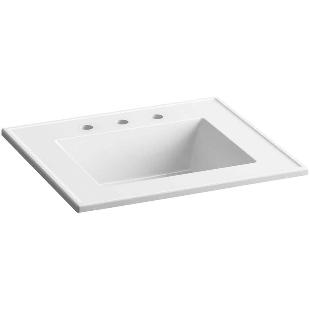 Kohler Ceramic Impressions 31 In Vitreous China Vanity Top With Basin In White Impressions K 2779 8 G81 The Home Depot