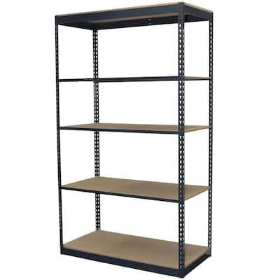 Storage Concepts 5 Tier Boltless Steel Garage Storage Shelving Unit 48 In W X 72 In H X 12 In D P2a5 4812 72w The Home Depot