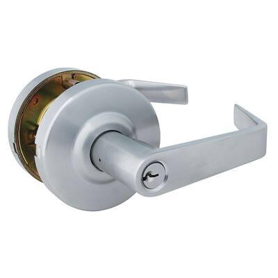 Commercial Steel Entrance Lockset Keyed Entry Door Lever