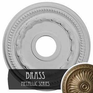 15-3/8'' x 3-5/8'' ID x 1'' Federal Urethane Ceiling Medallion (Fits Canopies upto 8-1/2''), Brass