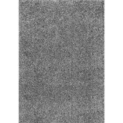 Marleen Plush Shag Gray 9 ft. x 12 ft. Area Rug