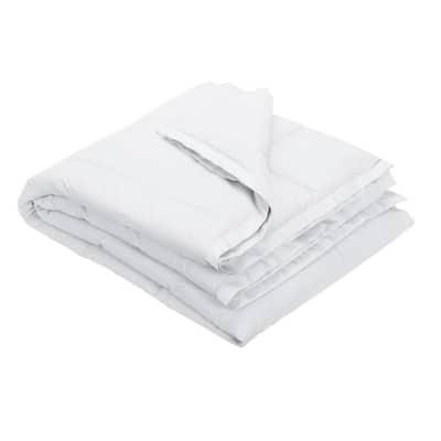 LaCrosse LoftAIRE Down Alternative White Cotton Throw Blanket